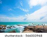 seascape wide granite stone...   Shutterstock . vector #566003968