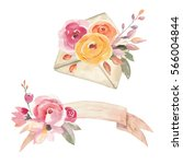 watercolor composition set with ...   Shutterstock . vector #566004844