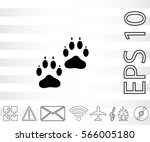 paw icon.   | Shutterstock .eps vector #566005180