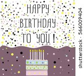 happy birthday to you   cute... | Shutterstock . vector #566009404