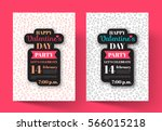 poster valentine's day party...   Shutterstock .eps vector #566015218