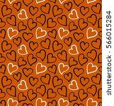 hearts seamless pattern in... | Shutterstock .eps vector #566015284