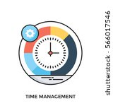 time management vector icon | Shutterstock .eps vector #566017546