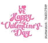 happy valentines day hand... | Shutterstock .eps vector #566017549