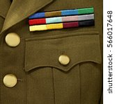 Army Service Stripes On Jacket