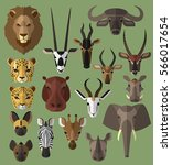Wild Animal Flat Illustration ...