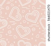 cute seamless pattern with... | Shutterstock .eps vector #566021470