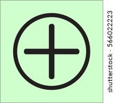 plus icon  positive symbol... | Shutterstock .eps vector #566022223