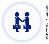 partnership  icon. vector... | Shutterstock .eps vector #566024554