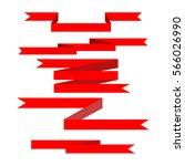 ribbon award. emblem modern... | Shutterstock .eps vector #566026990
