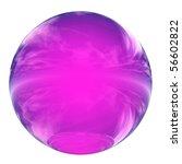High Resolution 3d Pink Glass...