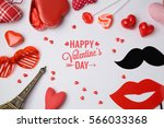 valentine's day background with ... | Shutterstock . vector #566033368