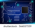 closeup of electronic circuit... | Shutterstock .eps vector #566037559