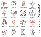 vector set of 16 linear quality ... | Shutterstock .eps vector #566040760