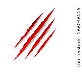 animal scratches   vector.... | Shutterstock .eps vector #566046559