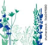 wild flowers | Shutterstock .eps vector #566049880