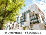 modern cubic residential... | Shutterstock . vector #566050336