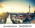 Stock photo berlin skyline with berlin cathedral and television tower 566050510