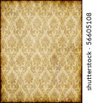 old worn damask parchment paper ... | Shutterstock . vector #56605108