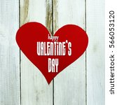 valentine's day card with... | Shutterstock . vector #566053120
