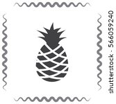 pineapple vector icon. tropical ... | Shutterstock .eps vector #566059240