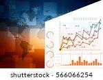2d rendering stock market...   Shutterstock . vector #566066254