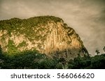 rock mountain in ratchaprapa dam | Shutterstock . vector #566066620
