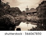 garden in sensoji temple  tokyo ... | Shutterstock . vector #566067850