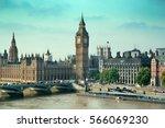 london westminster with big ben ... | Shutterstock . vector #566069230