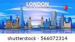 london skyline. vector