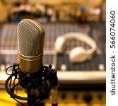 studio microphone closeup | Shutterstock . vector #566074060