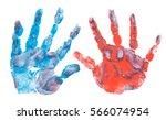 Imprint Of Children's Hands...