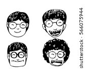 people face cartoon icon | Shutterstock .eps vector #566075944