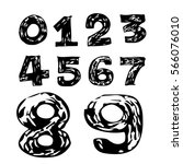 numbers hand draw  icon | Shutterstock .eps vector #566076010