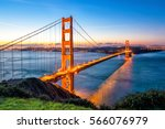 golden gate bridge in san... | Shutterstock . vector #566076979