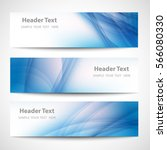 abstract header blue wave white ... | Shutterstock .eps vector #566080330