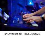 closeup hands of pianist... | Shutterstock . vector #566080528