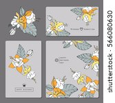 template spring flyers with... | Shutterstock . vector #566080630