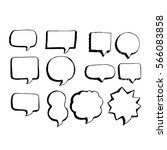 speech bubble hand drawing icon | Shutterstock .eps vector #566083858