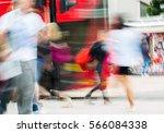 people walking in oxford street ... | Shutterstock . vector #566084338