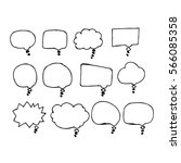 speech bubble hand drawing icon | Shutterstock .eps vector #566085358