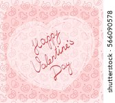 greeting card  label or sticker ... | Shutterstock .eps vector #566090578