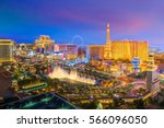 Stock photo aerial view of las vegas strip in nevada as seen at night usa 566096050