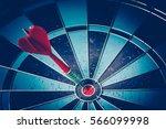 bullseye is a target of... | Shutterstock . vector #566099998