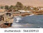 dahab city coastline in south...   Shutterstock . vector #566100913