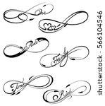 infinity symbols | Shutterstock .eps vector #566104546