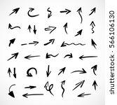 hand drawn arrows  vector set   Shutterstock .eps vector #566106130