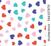 seamless hearts pattern with... | Shutterstock .eps vector #566107870