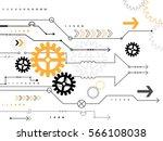 illustration gear wheel  hi... | Shutterstock . vector #566108038