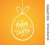 easter card with a bright... | Shutterstock . vector #566109850